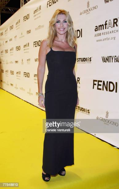 Paola Ferrari attends the amfAR's Inaugural Cinema Against AIDS Rome held at the Spazio Etoile on October 26 2007 in Rome Italy