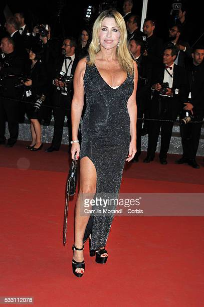 Paola Ferrari attends 'The Neon Demon' premiere at the 69th annual Cannes Film Festival at Palais des Festivals on May 20 2016 in Cannes France
