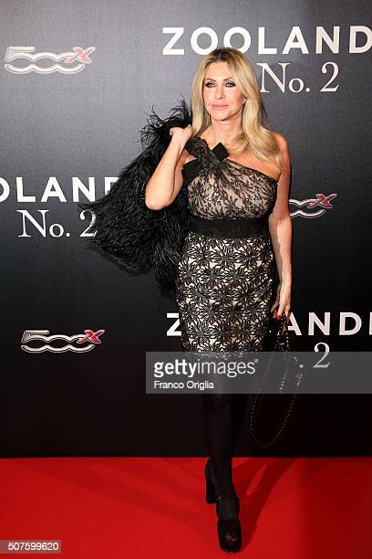 Paola Ferrari attends the 'Zoolander No 2' Rome Fan Screening on January 30 2016 in Rome Italy