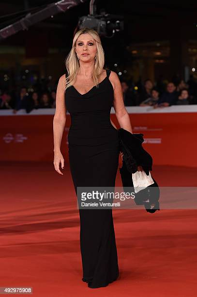 Paola Ferrari walks the red carpet for 'Truth' during the 10th Rome Film Fest at Auditorium Parco Della Musica on October 16 2015 in Rome Italy