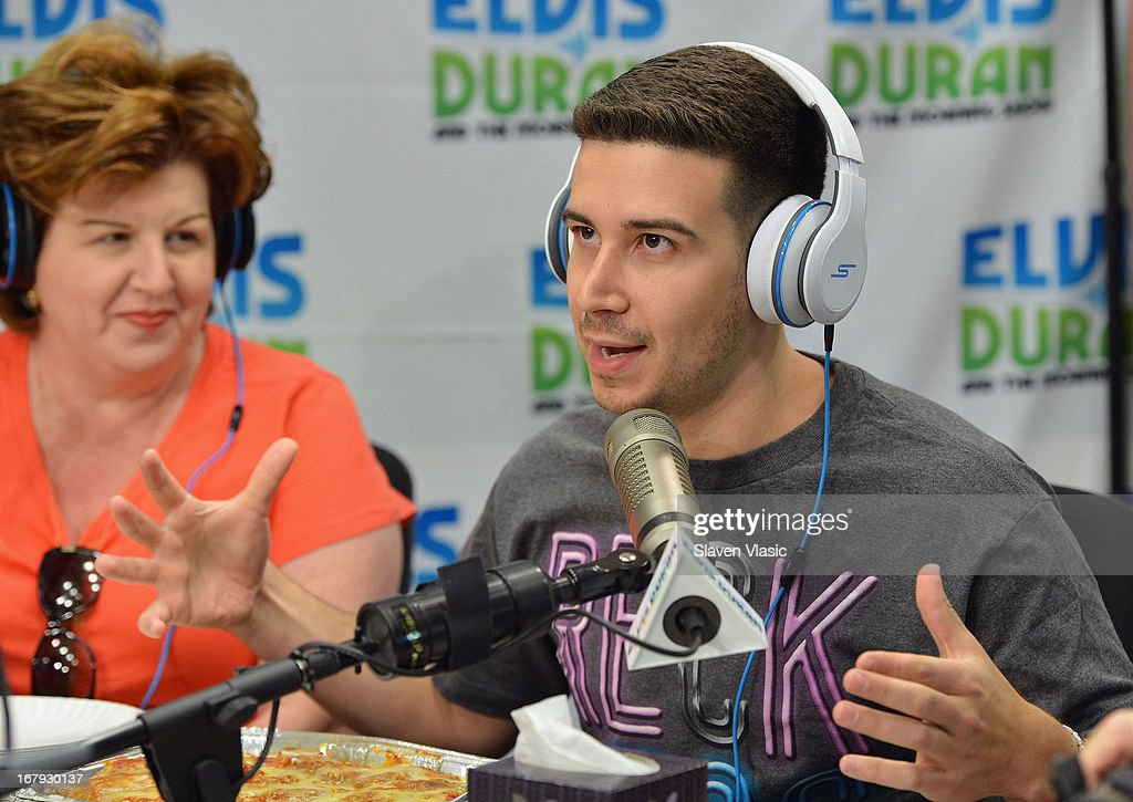 Paola Giaimo and Vincent 'Vinny' Guadagnino visit Elvis Duran Z100 Morning Show at Z100 Studio on May 2, 2013 in New York City.