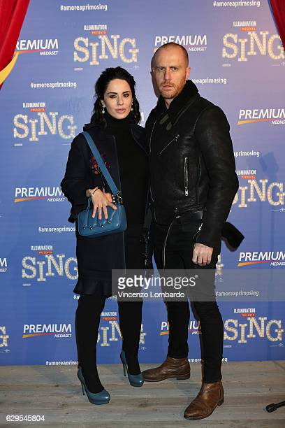 Paola Iezzi and guest attends a photocall for 'Sing' on December 13 2016 in Milan Italy