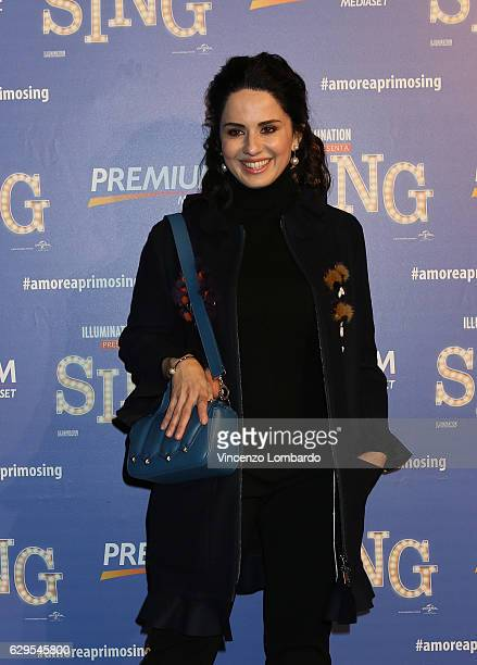 Paola Iezzi attends a photocall for 'Sing' on December 13 2016 in Milan Italy