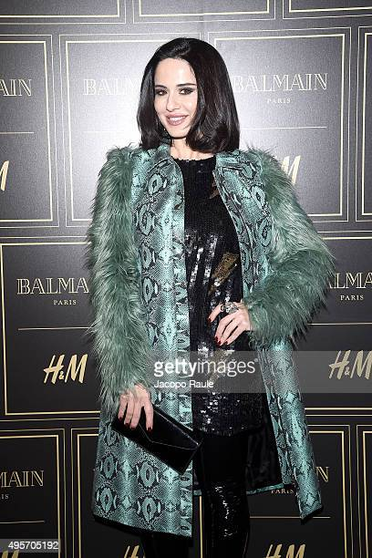 Paola Iezzi attends Balmain For HM Collection Preview Photocall on November 4 2015 in Milan Italy