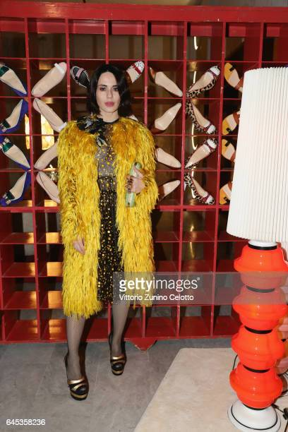 Paola Iezzi attends Christian Louboutin Cocktail during Milan Fashion Week Fall/Winter 2017/18 on February 25 2017 in Milan Italy