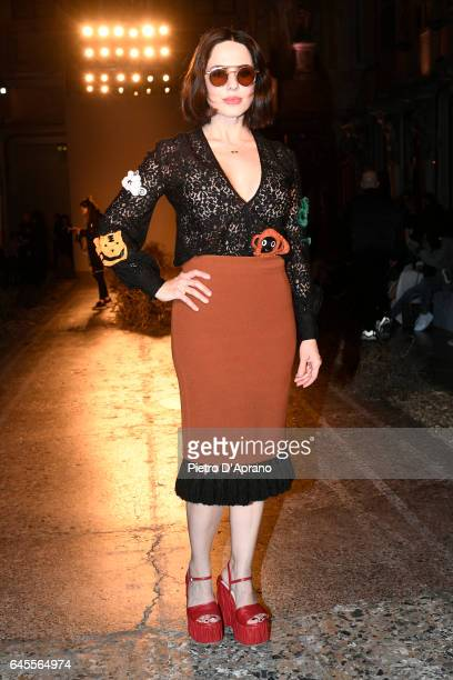 Paola Iezzi attends the Au Jour Le Jour show during Milan Fashion Week Fall/Winter 2017/18 on February 26 2017 in Milan Italy