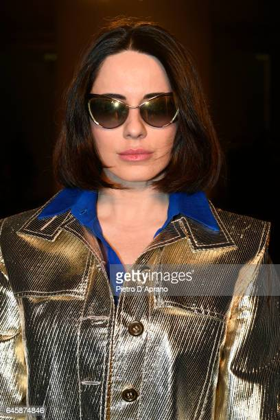 Paola Iezzi attends the Daizy Shely show during Milan Fashion Week Fall/Winter 2017/18 on February 27 2017 in Milan Italy
