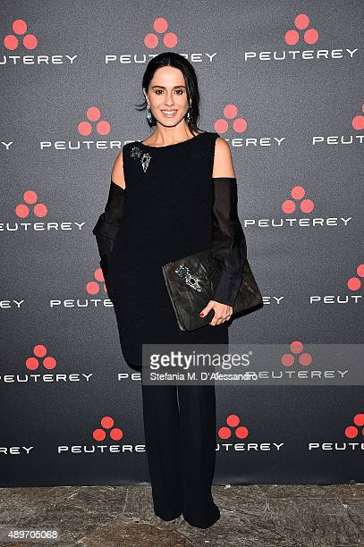Paola Iezzi attends the Peuterey presentation as part of Milan Fashion Week Spring/Summer 2016 on September 23 2015 in Milan Italy