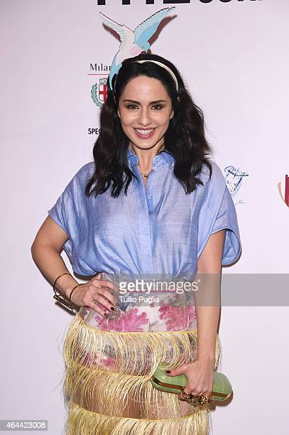 Paola Iezzi attends the Vogue Talent's Cornercom on February 25 2015 in Milan Italy