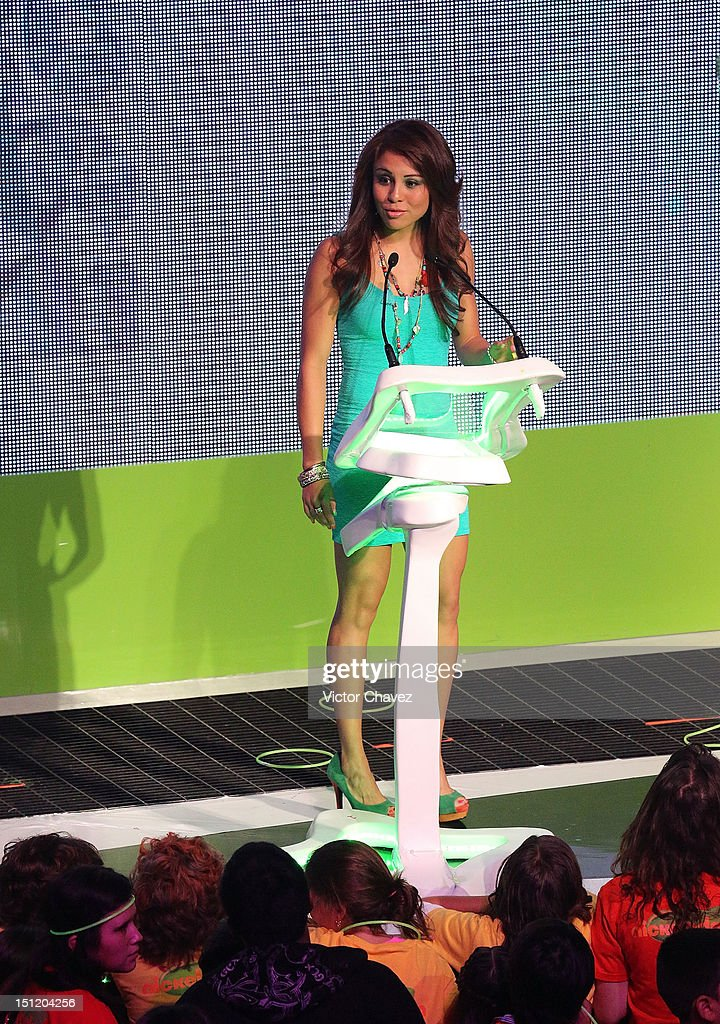 Paola Longoria presents the favorite athlete award onstage at the Kids Choice Awards Mexico 2012 at Pepsi Center WTC on September 1, 2012 in Mexico City, Mexico.