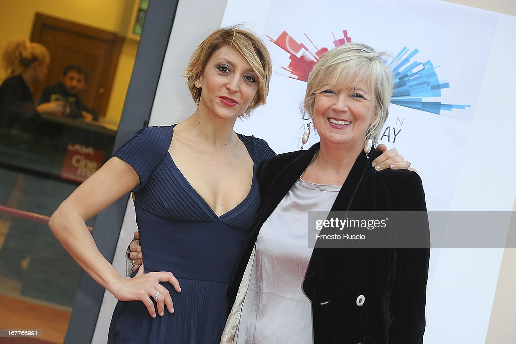 Paola Minaccioni and Piera Detassis attend the 2013 Italian DVD Awards at Casa del Cinema on April 29, 2013 in Rome, Italy.