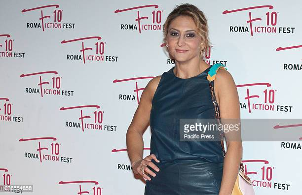 Paola Minaccioni attend at the Red Carpet of 'In art Nino' presented at the Roma Fiction Fest 2016