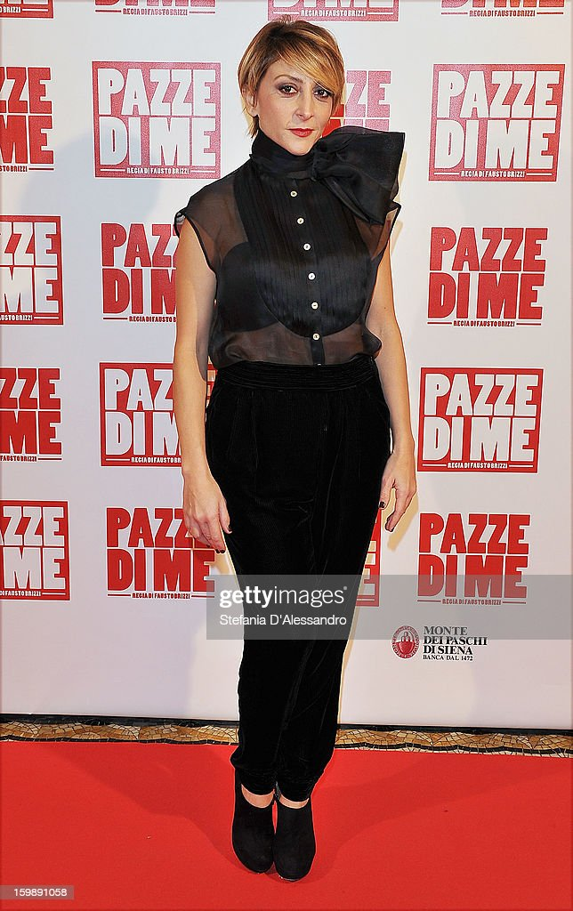 Paola Minaccioni attends 'Pazze di Me' Premiere at Cinema Odeon on January 22, 2013 in Milan, Italy.