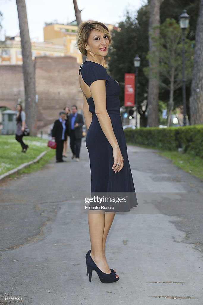 Paola Minaccioni attends the 2013 Italian DVD Awards at Casa del Cinema on April 29, 2013 in Rome, Italy.