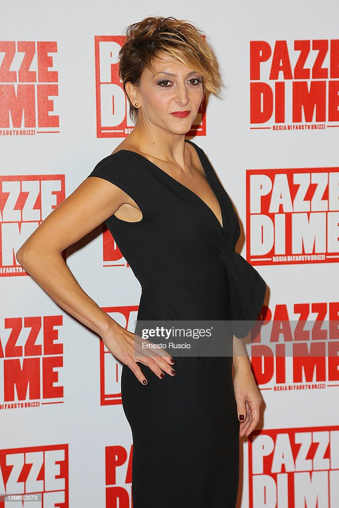 Paola Minaccioni attends the 'Pazze di Me' premiere at Teatro Sistina on January 21, 2013 in Rome, Italy.
