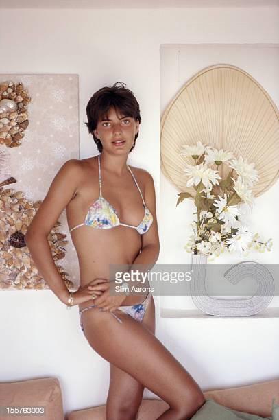 Paola Mussetti a science student from Turin poses in a bikini in Porto Rotondo Sardinia Italy in August 1982
