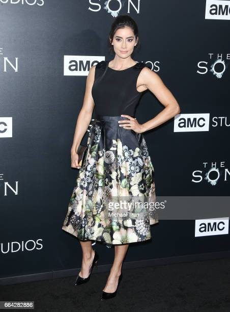 Paola Nunez arrives at the Los Angeles premiere of AMC's 'The Son' held at ArcLight Hollywood on April 3 2017 in Hollywood California