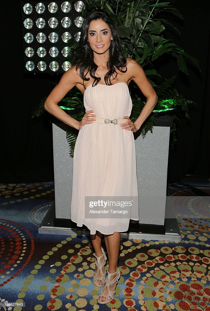 Paola Nunez attends Telemundo Luncheon to launch 'Camelia Le Texana' during NATPE at Eden Roc Hotel on January 27, 2014 in Miami Beach, Florida.