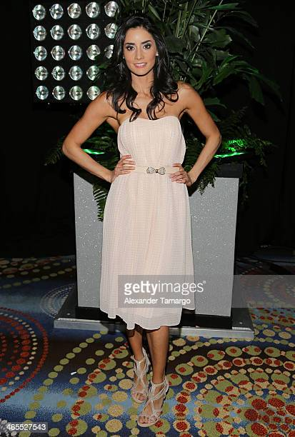 Paola Nunez attends Telemundo Luncheon to launch 'Camelia Le Texana' during NATPE at Eden Roc Hotel on January 27 2014 in Miami Beach Florida