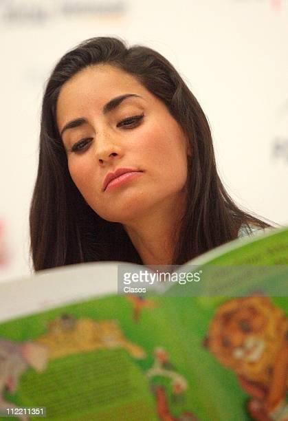 Paola Nunez during a program called Cuenta Cuentos at Las Granjas de las Americas on April 14 2911 in Mexico City Mexico