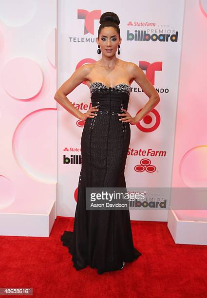 Paola Nunez poses backstage at the 2014 Billboard Latin Music Awards at Bank United Center on April 24 2014 in Miami Florida