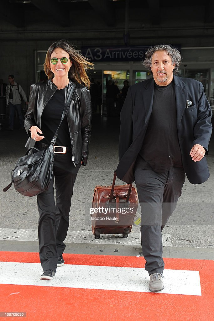 Paola Perego and Lucio Presta are seen arriving at Nice airport during The 66th Annual Cannes Film Festival on May 15, 2013 in Nice, France.