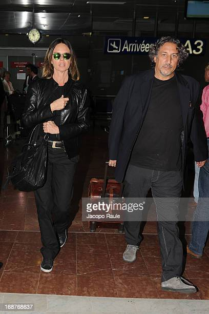 Paola Perego and Lucio Presta are seen arriving at Nice airport during The 66th Annual Cannes Film Festival on May 15 2013 in Nice France