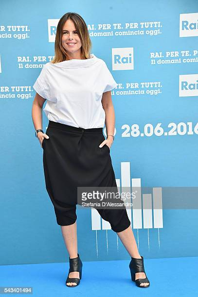 Paola Perego attends Rai Show Schedule Presentation In Milan on June 28 2016 in Milan Italy