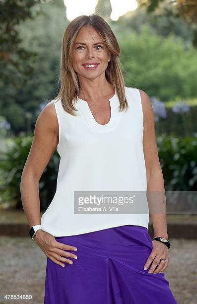 Paola Perego attends RAI Yearly TV Show Schedule at Villa Piccolomini on June 25 2015 in Rome Italy