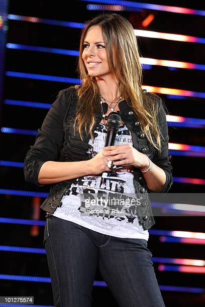 Paola Perego attends the 2010 Wind Music Awards on May 29 2010 in Verona Italy