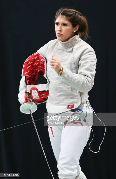 Paola Pliego of Mexico fences during the gold medal match of the Team Women's Sabre event on June 17 2017 at the PanAmerican Fencing Championships at...