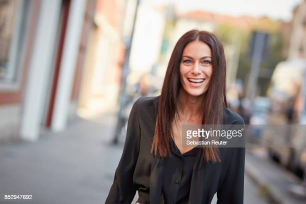 Paola Turani is seen during Milan Fashion Week Spring/Summer 2018 on September 24 2017 in Milan Italy