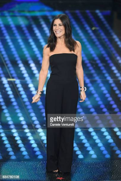 Paola Turci attends the closing night of 67th Sanremo Festival 2017 at Teatro Ariston on February 11 2017 in Sanremo Italy
