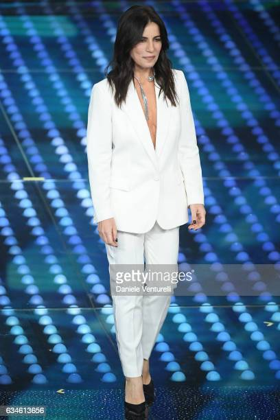 Paola Turci attends the fourth night of the 67th Sanremo Festival 2017 at Teatro Ariston on February 10 2017 in Sanremo Italy