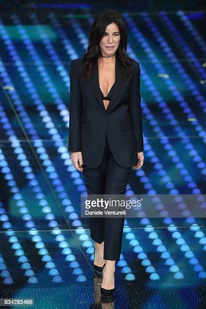 Paola Turci attends the second night of the 67th Sanremo Festival 2017 at Teatro Ariston on February 8 2017 in Sanremo Italy