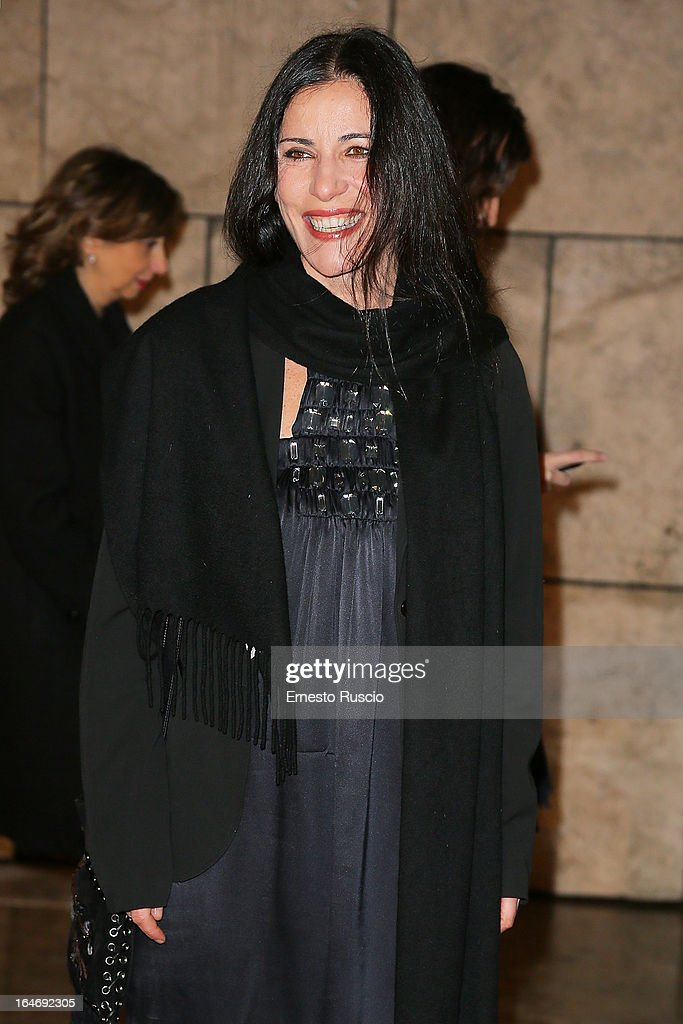 Paola Turci attends the 'Viaggio Sola' premiere at Ara Pacis on March 26, 2013 in Rome, Italy.