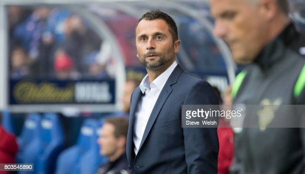 Paolo Amodio Manager of FC Progres Niederkorn during the UEFA Europa League first qualifying round match between Rangers and Progres Niederkorn at...
