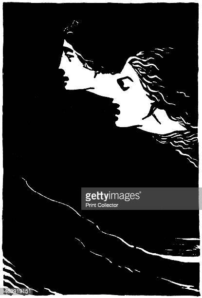 'Paolo and Francesca' early 20th century Illustration of the poem by Dante Alighieri