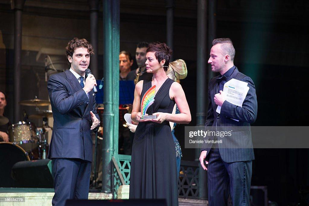 Paolo Barletta, Vittoria Belvedere and Francesco Facchinetti attend 'Vorrei... 2013' Charity Event To Support Fondazione FFC at Teatro Sistina on October 28, 2013 in Rome, Italy.