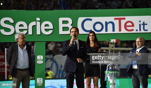 Paolo Bedin general manager of Lega B speaks on after the Serie B match between SPAL and FC Bari at Stadio Paolo Mazza on May 18 2017 in Ferrara Italy