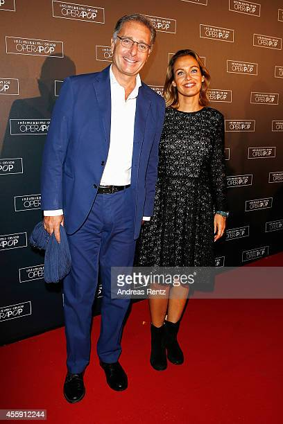 Paolo Bonolis and wife Sonia Bonolis attend Intimissimi on Ice OperaPop at the Arena di Verona on September 20 2014 in Verona Italy The world...