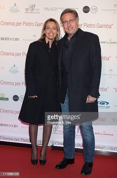Paolo Bonolis and wife Sonia Bruganelli attend 'Il Cinema Per Pietro Gamba' gala charity event to support 'Asociacion Humanitaria Doctor Pietro...