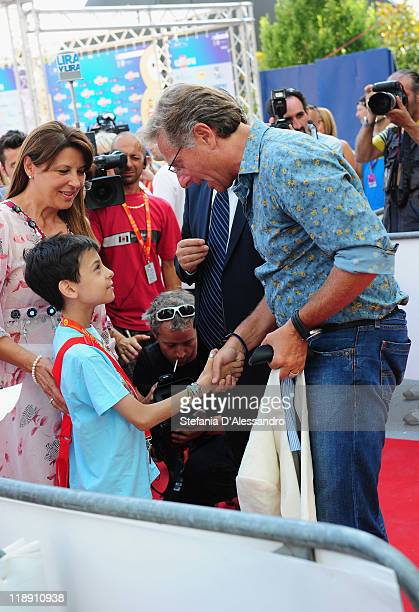 Paolo Bonolis attends 2011 Giffoni Experience on July 12 2011 in Giffoni Valle Piana Italy