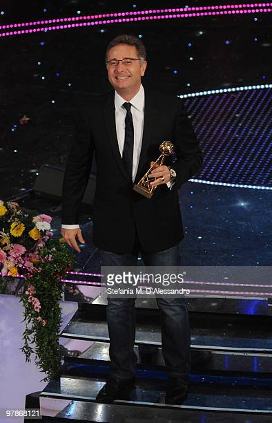 Paolo Bonolis attends 'Premio TV 2010' Ceremony Award held at Teatro Ariston on March 18 2010 in San Remo Italy
