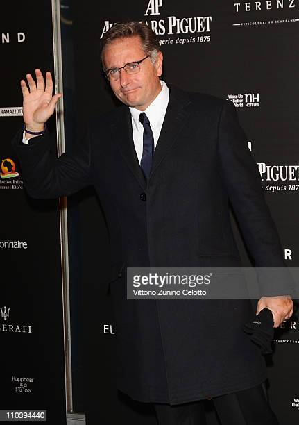 Paolo Bonolis attends the 'Fundaction Privada Samuel Eto'o' Charity Event Red Carpet on March 17 2011 in Milan Italy