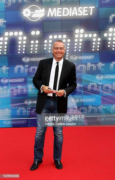 Paolo Bonolis attends the Mediaset Night TV Programming Presentation on June 30 2010 in Milan Italy