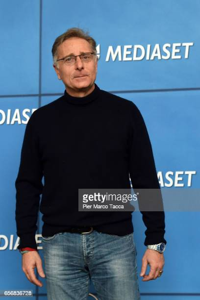 Paolo Bonolis attends the Paolo Bonolis press meeting on March 23 2017 in Milan Italy