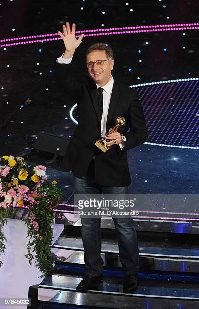 Paolo Bonolis attends the 'Premio TV 2010' Ceremony Award held at Teatro Ariston on March 18 2010 in San Remo Italy