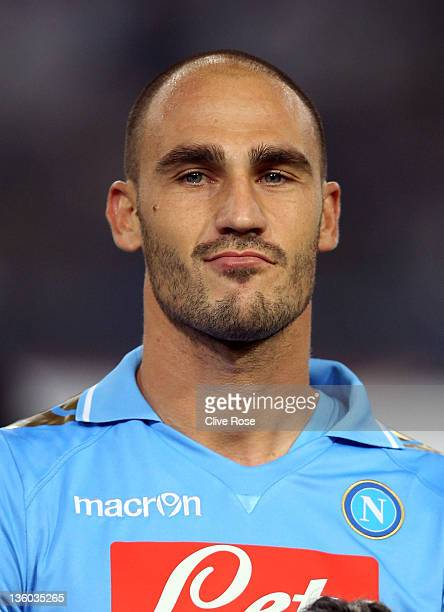 Paolo Cannavaro of Napoli looks on prior to the Uefa Champions League Group A match between Napoli and Manchester City at Stadio San Paolo on...