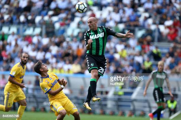 Paolo Cannavaro of Sassuolo during the Serie A match between US Sassuolo and Juventus at Mapei Stadium Citta' del Tricolore on September 17 2017 in...